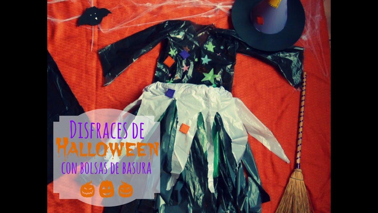 infantiles disfraces con bolsas para halloween