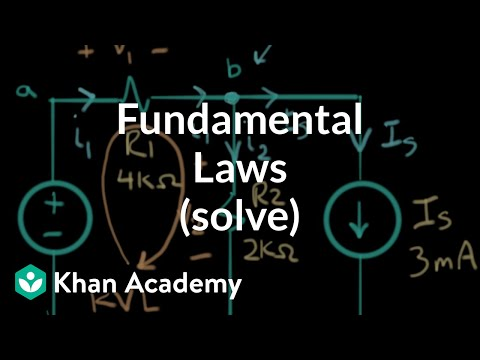 Application of the fundamental laws (solve) | Electrical engineering | Khan Academy