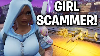 DummRICH GIRL!! Scams ME!! 😂😞 (Scammer Get Scammed) Fortnite Save The World