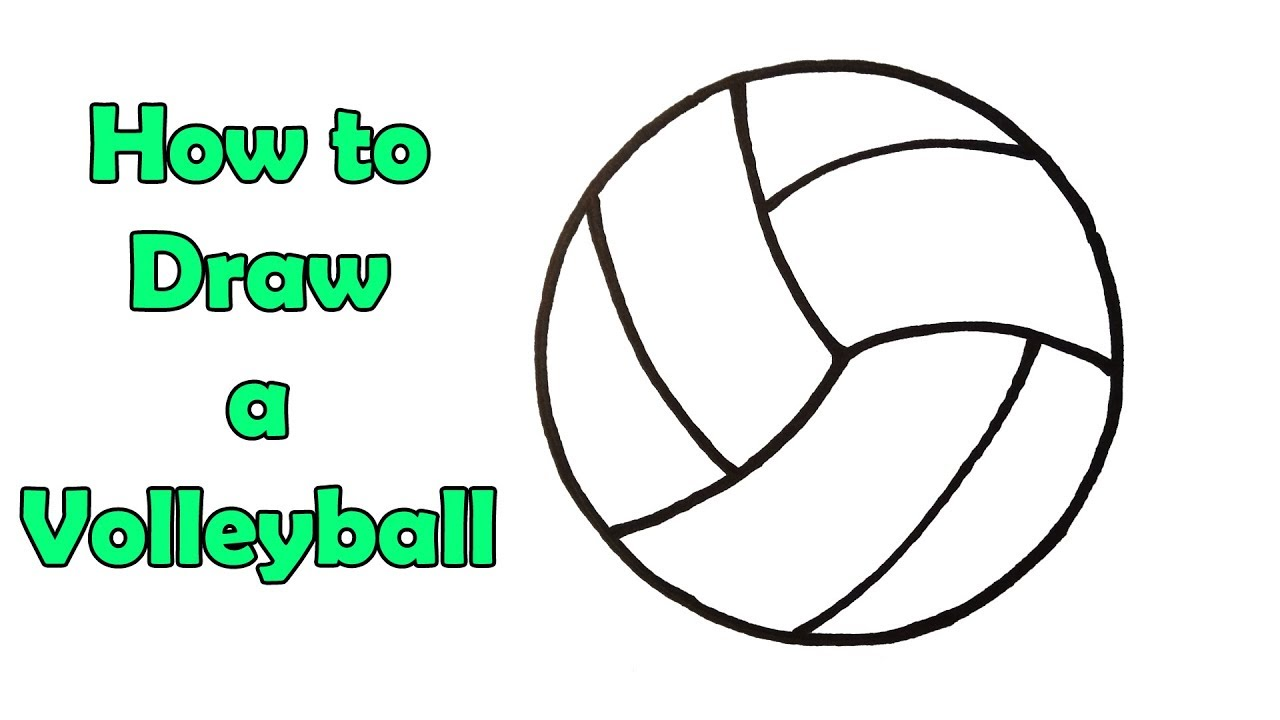How To Draw A Volleyball Very Very Easy Youtube