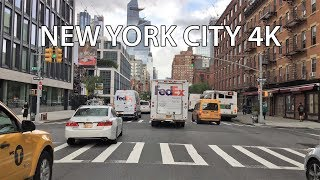 New York City 4K - Manhattan's West Side - Driving Downtown USA