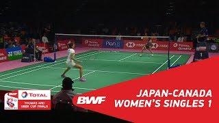 TU Cup C1 JAPCAN MATCH 01 BWF 2018