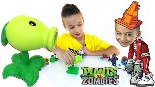 PАСТЕНИЯ ПРОТИВ ЗОМБИ  - Игра Plants vs zombies Растения против Зомби Игрушки