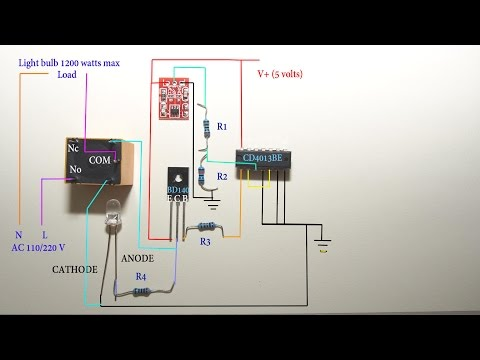Touch Sensitive Light Switch Circuit Diagram You