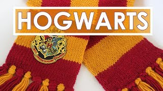 How to Knit a SCARF   Harry Potter Hogwarts Gryffindor