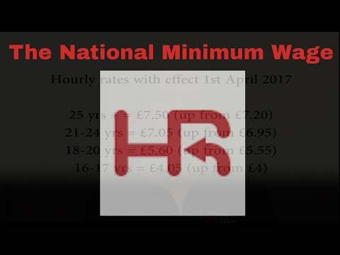 The National Minimum Wage April 2017