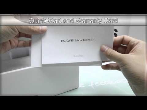 Huawei Ideos Tablet S7: Unboxing