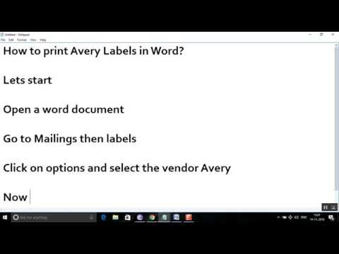 How to print avery 5160 labels in word