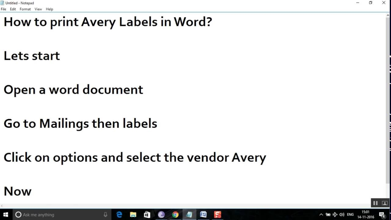 How to print Avery Mailing labels in Word? - YouTube