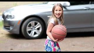 Kids playing basketball (4K)