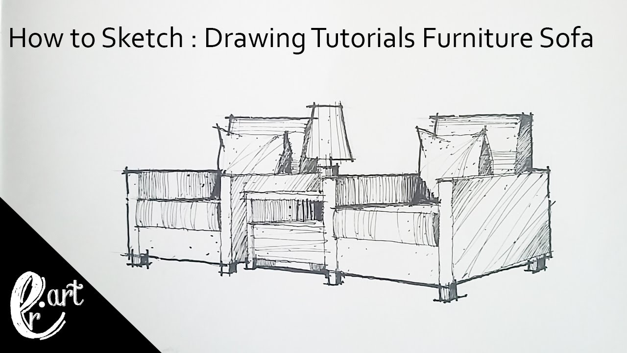 Charmant How To Sketch : Drawing Tutorials Furniture Sofa EASY
