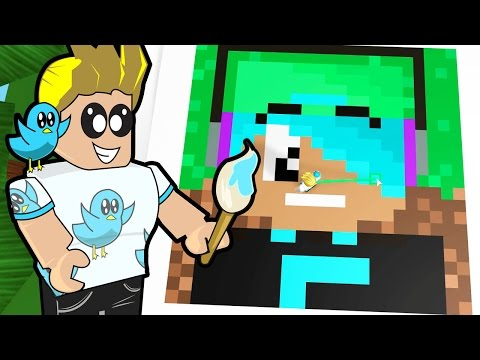 Roblox / Pixel Art Creator / Minecraft in Roblox / Gamer Chad Plays