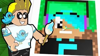Roblox / Pixel Art Creator / Minecraft in Roblox / Gamer Chad Plays