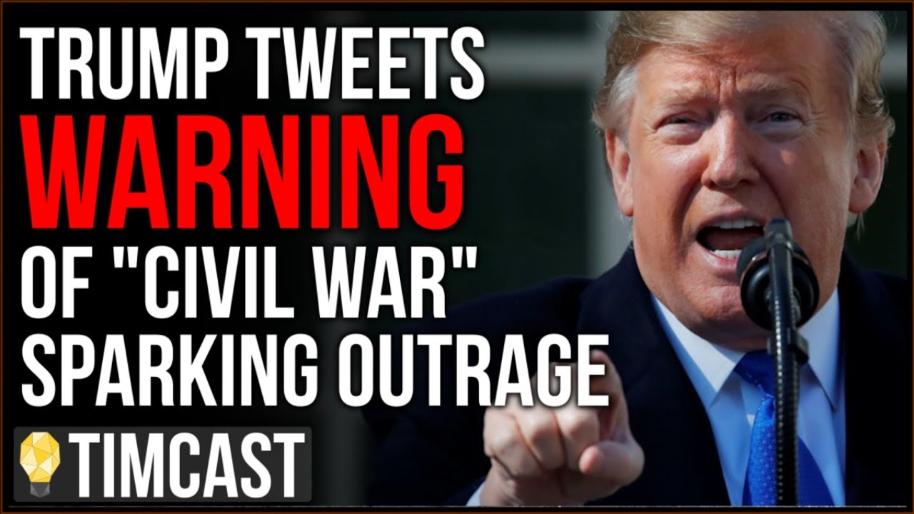 Tim Pool Trump Warns Of Civil War If Impeached Causing OUTRAGE, But He Isn't Wrong And The Medi