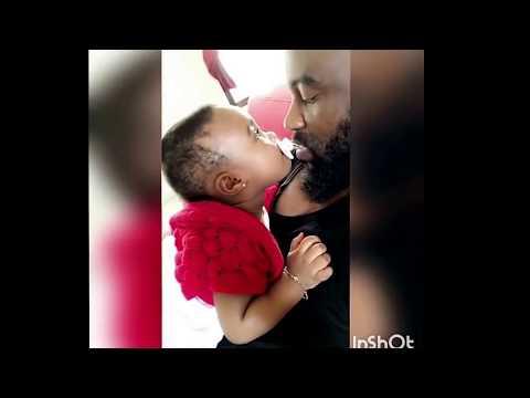 Fally ipupa et sa fille malka monikel