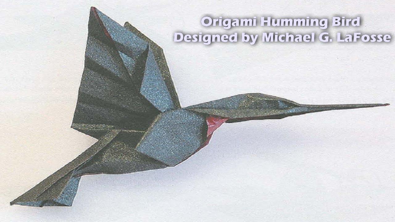 origami hummingbird diagram instructions 04 nissan xterra radio wiring humming bird hd الطائر الطنان youtube