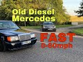 HOW FAST IS THIS 1989 DIESEL MERCEDES W124??????? SIDEWAYS FOR DAYS (BUDGET BUILD CAR)