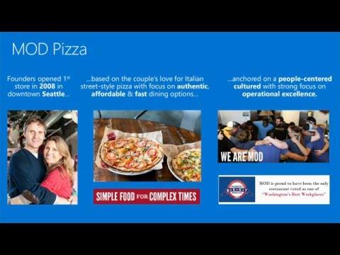 Power BI Customer Session:  MOD Pizza  & Metro Bank