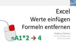 Excel # 531 - Werte einfügen - Formeln entfernen