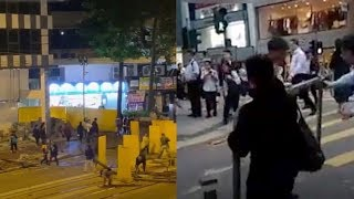 Hong Kong residents remove barricades after riots