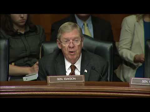 Isakson questions HHS Secretary Alex Azar on drug pricing