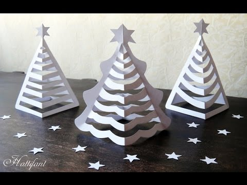 Hattifant 3d Paper Christmas Tree 3d Christmas Tree With Paper Includes Free Templates
