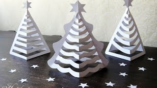 DIY | 3D Paper Christmas Trees