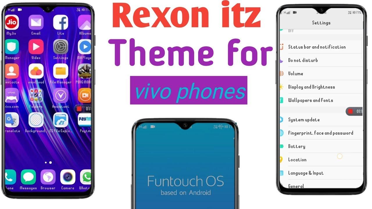 Rexon itz theme for vivo phones || vivo v15 pro,vivo v15