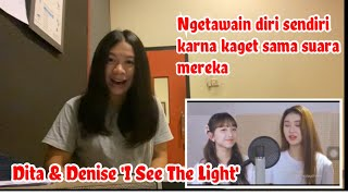 Secret Number (Dita & Denise) 'I See The Light' (Cover) | Vocal Coach Reaction
