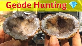 The Crystal Collector & Rockhound Rob Geode Hunting Jacobs Mine