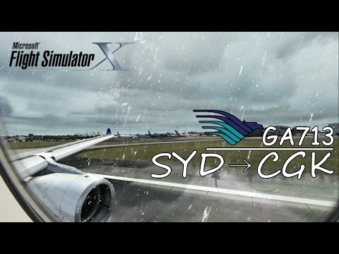 Airbus A330 (Rainy Take Off) | Garuda Indonesia GA 713 | Sydney to Jakarta [FSX HD]