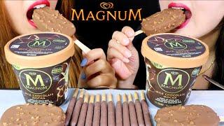 ASMR MOCHA MAGNUM ICE CREAM + COFFEE HAAGEN DAZS ICE CREAM + TIRAMISU POCKY 리얼사운드 먹방   Kim&Liz ASMR