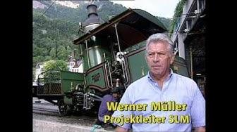 Die Schweizer Zahnrad-Lok der Vitznau-Rigi-Bahn