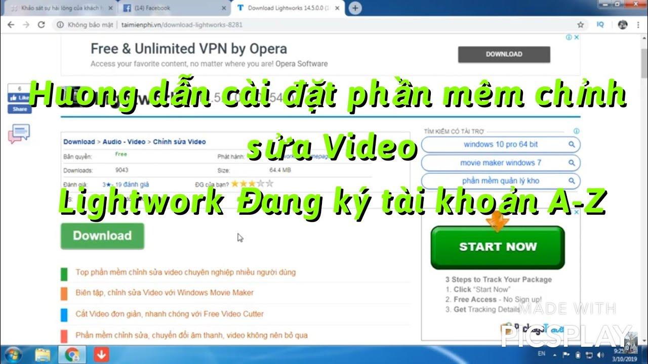 (Lightworks 12.6 tutorial) Tải và cài đặt phần mềm chỉnh sửa video Lightworks cho Windows