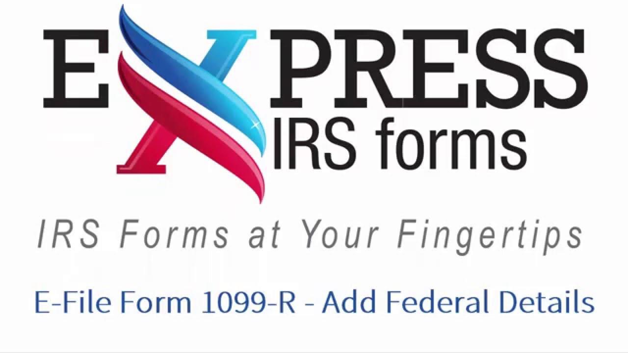 E file form 1099 r add federal details youtube e file form 1099 r add federal details falaconquin
