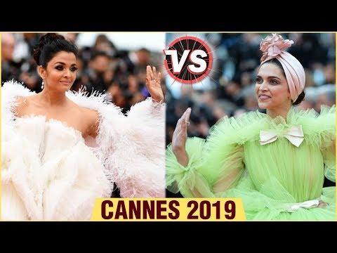 Cannes 2019  Aishwarya Rai VS Deepika Padukone Feather Gown  Fashion Face Off