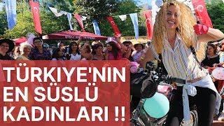 Türkiye'nin En SÜSLÜ KADINLARI Bu Festivalde !! | Süslü Kadınlar Bisiklet Turuna Katıldım
