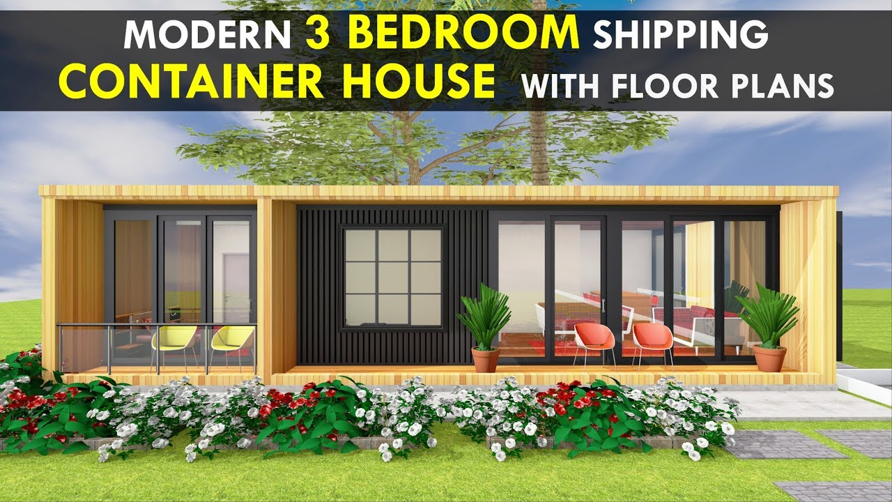 Amazing Shipping Container 3 Bedroom House Design With Floor Plans By  SHELTERMODE | MODBOX 640