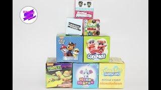 Сюрпризы-игрушки в кубиках. Губка Боб, Собачки, Черепашки Ниндзя, Кактусовые котята и др.