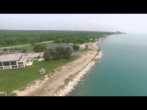 lake-county-top-wedding-venue-illinois-beach-state-park,-lake-county-drone