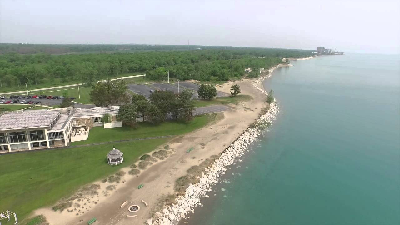 Lake County Top Wedding Venue Illinois Beach State Park Drone