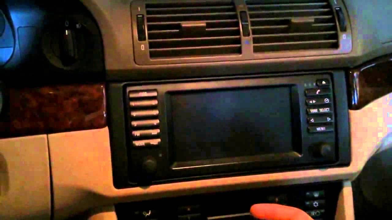 hight resolution of bmw e39 with navigation aux ipod input installation bm53 radio youtube