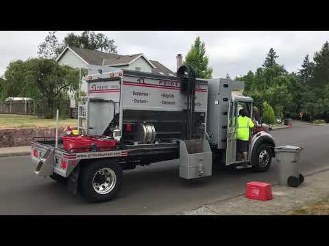 Pride Disposal's New CNG Custom Glass Truck
