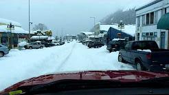 Seward AK Main St Snow