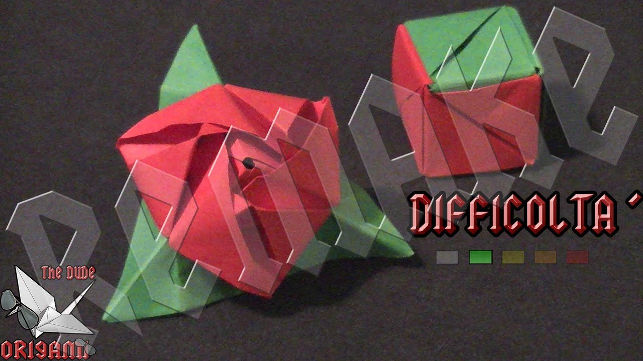 Rosa Origami. Perfect Vela Flor De Origami Grande Color ... - photo#47