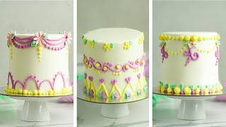 Wilton number 2 Piping Tip Challenge Mini Cakes- Rosie's Dessert Spot