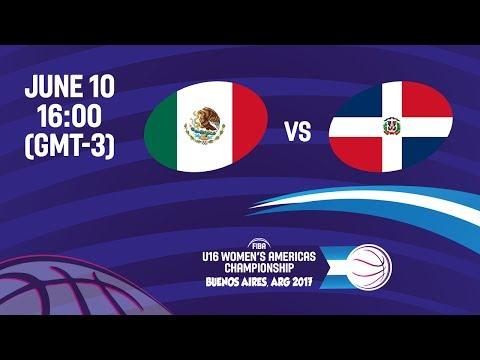Mexico vs Dominican Republic - Reclassification - FIBA U16 Women