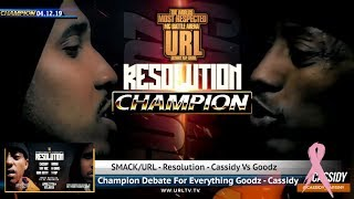 GOODZ FACES OFF WITH CASSIDY'S CONFIDENCE - SMACK/URL | CHAMPION