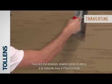 Tollens  Travertine Peinture Dcorative  Youtube