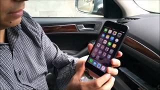 How to play music from Iphone 6 via bluetooth (wireless) in an Audi Tune2air WMA3000a
